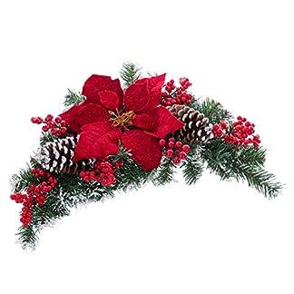 Centro de Mesa de Navidad clásico Rojo de Microfibra para decoración Christmas – LOLAhome