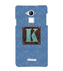 YuBingo Coolpad Note 3 Designer Phone Back Case Cover ( Monogram with Beautifully Written Jeans and Macho Male Leather Finish letter K )