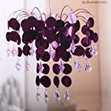 Urban Life Easy Fit Chandelier in Chic Plum
