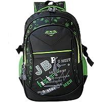 Kinder Schulrucksack für Jungen Schulrucksack Rucksack Jugendliche Schultasche Outdoor Freizeit Daypack (Green-1)