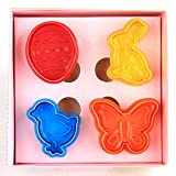 ElecMotive 4 teiliges Easter Ostermotive Ostern Cookie Cutters Plätzchenformen Backformen