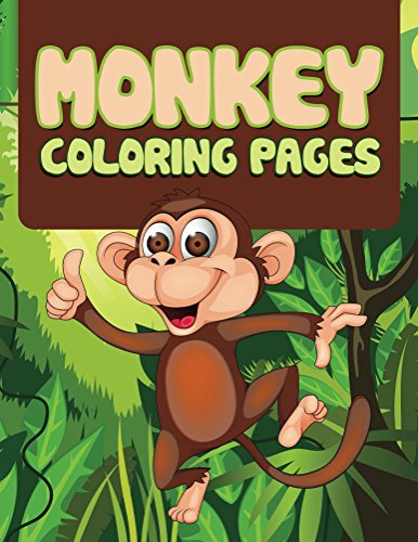 Monkey Coloring Book For Kids (Art Book Series)