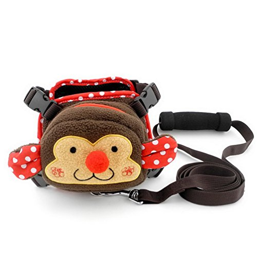 Pet Monkey Fleece Rucksack verstellbares Hundegeschirr Weste Leine Set, X-Large (Monkey Rucksack Mit Leine)