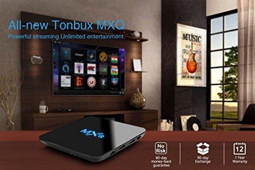 Tonbux® MXQ Pro Android 6,0 Kodi TV Box mit Amlogic S905X Quad core Full Loaded KODI 16,1 (XMBC) mit Add-Ons 4K*2K Streaming Media Player + i8 Bluetooth mini Tastatur - 2