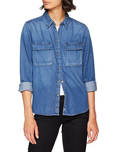 Pepe Jeans Nina, Blusa para Mujer, Azul (Denim Gf8), Medium