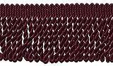 7,6cm lang burgund Edelstahldraht Fransen Rand, Stil # BFS3Farbe: ruby–E10, verkauft von der Yard