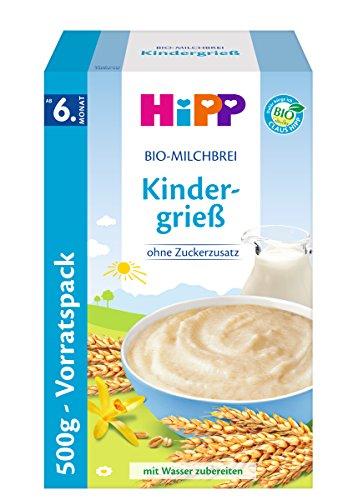 HiPP Kindergrieß, ab dem 6. Monat, 4er Pack (4 x 500 g)