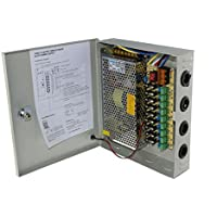 JoyNano 12V DC 9-Channel Telealimentazione Box 120W 10A reset automatico del fusibile per il LED (Power Supply 10 Amp)