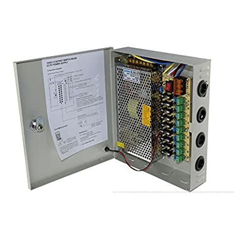 JoyNano 12V DC 9-Channel Distributed Box Alimentation 120W 10A Individuel Fusible pour CCTV caméra de (Power Supply 10 Amp)