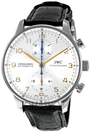 IWC IWC Portuguese Mechanical Silver Dial Chronograph Mens Watch 3714 – 45