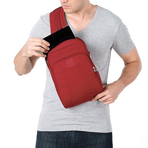 Pacsafe Metrosafe LS150Diebstahlschutz Sling Rucksack, schwarz (schwarz) - 30415 Vintage Red
