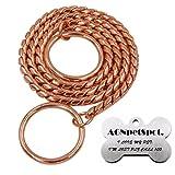 #9: AGNpetSpot. Rose Gold Snake Dog Choke Chain Collar 3.5mmX18