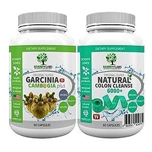 SUPERPACK! – Super Garcinia Cambogia + Detox colon cleanse 6000+. US Original von ScientyLabs mit purem! Garcinia Cambogia + aktuell stärkster SL colon cleanser
