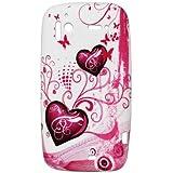 So'axess TPUHTSENSA33 Etui en silicone pour HTC Sensation Motif Cœur rouge sur Fond Blanc