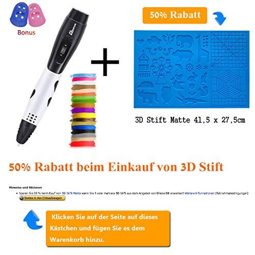 3D Stifte für Kinder mit LCD Display, 3D Druckstift, 3D Stift Set mit 1,75 mm PLA Filament für Kinder, Erwachsene, Kritzelei, Zeichnung und Kunst & handgefertigte Werke - 2