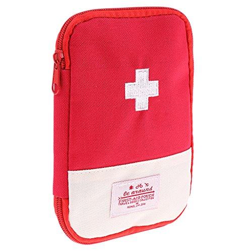 FITYLE Erste Hilfe Tasche Medikamententasche Notfalltasche Reise Verbandstasche - Rot