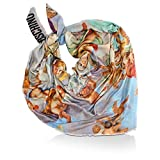 MOSCHINO Modal Tuch mit Cashmere Angel Sky, ca. 140x140 cm, Multicolor