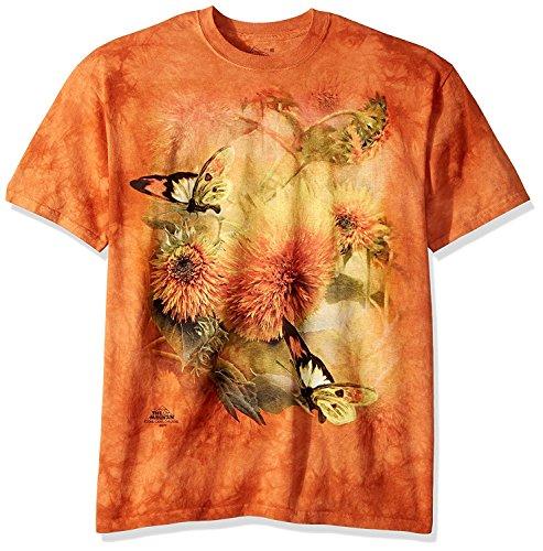 The Mountain T-Shirt Sunflowers & Butterflies , Orange, M