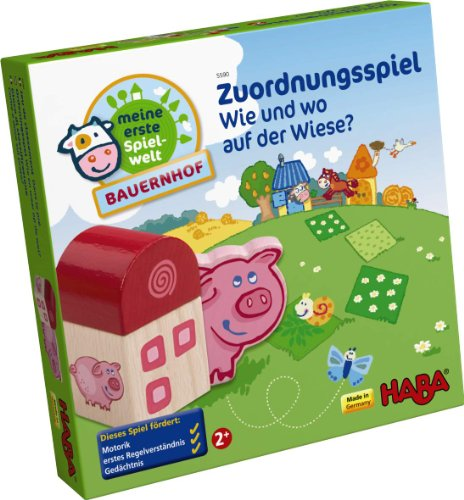 Preisvergleich Produktbild HABA 5590 - Meine erste Spielwelt Bauernhof - Zuordnungsspiel Wie und wo auf der Wiese