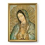 LibreriadelSanto.it Quadro Madonna di Guadalupe con Lamina Oro e Cornice Dorata