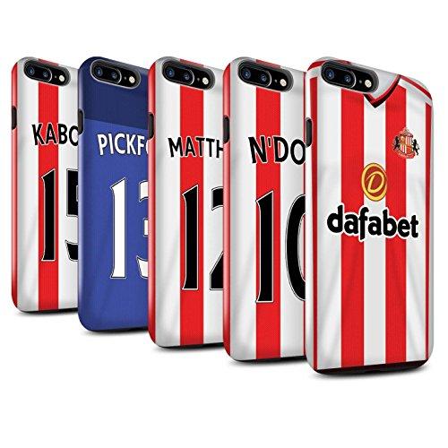 Offiziell Sunderland AFC Hülle / Glanz Harten Stoßfest Case für Apple iPhone 7 Plus / Rodwell Muster / SAFC Trikot Home 15/16 Kollektion Pack 24pcs