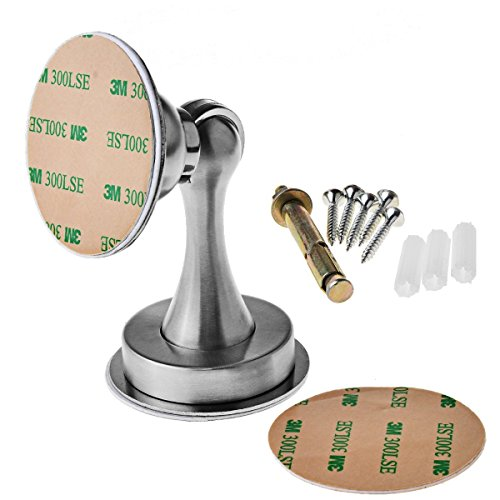 Magnetischer Türstopper türstopper mit magnet Magnet-Türstopper aus solidem gebürsteten Stahl