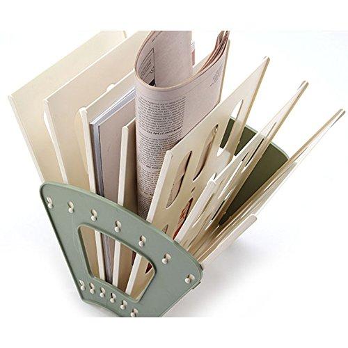 oak-pine Abnehmbare Kunststoff Büro Schreibtisch A4Datei Rack Desktop Papier Organizer Ablage Magazin Book Aufbewahrungsbox Fall Halter Dokument Tablett grün