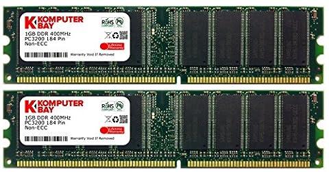 Komputerbay 2Go (2x 1Go) DDR DIMM (184 broches) 400MHz DDR400 PC3200 mémoire d'ordinateur avec semi-conducteurs