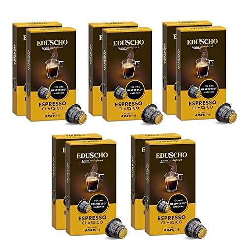 Tchibo Eduscho Espresso Classico - Nespresso* kompatible Kapseln, 100 Stück (10x10 Kapseln)