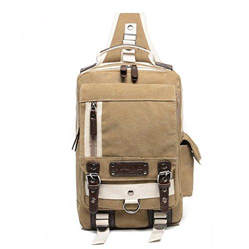 Umhängetasche Outdoor Schleuder Tasche Brust Ungleichgewicht Mini Sling Bag Brusttasche Put Ipad Qualitäts-Schultertasche Khaki