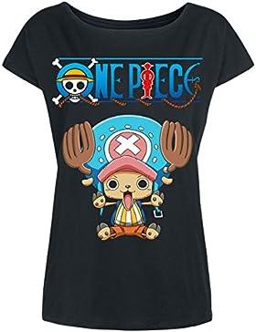 One Piece Pieza de Algodón Negro Mujeres Camiseta del Interruptor de Tony Holgado Animado