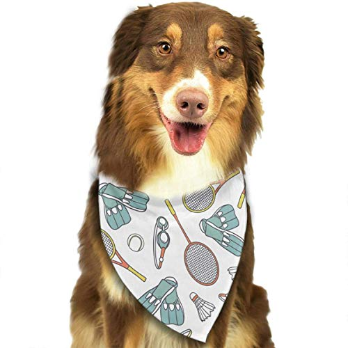 Sports Equipment Pattern Fashion Dog Bandanas Bibs