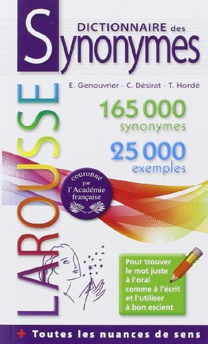 Dictionnaire des synonymes Poche de Collectif (23 mai 2012) Broché