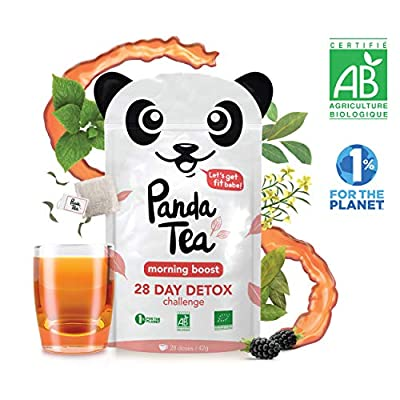 Panda Tea - Morning boost - thé biologique bio - 28 sachets coton