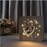 Twtiq Rocket Shape Usb Led Lampe De Table Créative Lumière Simple Cadeau Créatif Lumière