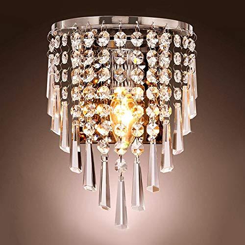 Lightess applique da parete di cristallo moderno lampada da parete raffinata illuminazione a muro decorativa per soggiorno sala corridoio camera da letto ristorante
