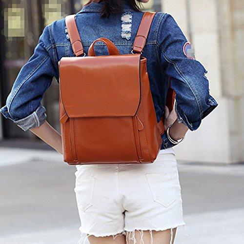 Frauen-Mädchen-Dame Art Und Weise Schulter College Schule Reise Rucksack Tasche Rucksack Multicolor Brown