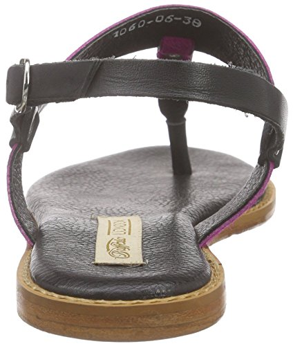 Buffalo London1060-06 CN COW PONY - Infradito Donna Multicolore (Mehrfarbig (BLACK758))