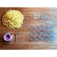 Kerzengießset Kerzen Set zum selber gießen Teelicht Form Silikonform + Bienenwachs