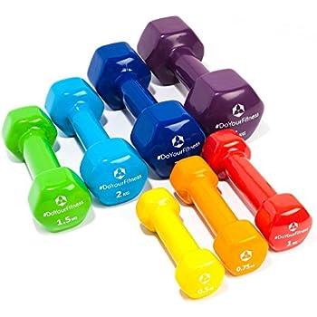 [7 parejas] Set Ahorro de pesas vinilo »Hexagon« / Mancuernas disponibles en