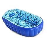 TD Vasca da bagno gonfiabile pieghevole per bambini Vasca da bagno per neonati I bambini appena nati possono sedersi più spessi