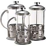 Pinkdose® 350Ml: 2017 Manual Coffee Espresso Maker Pot Stainless Steel Glass Teapot Cafetiere French Coffee Tea Percolator Filter Press Plunger