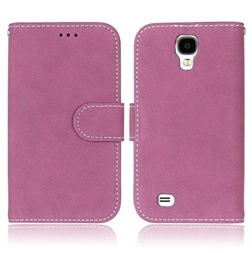 Hozor Samsung Galaxy S4 / SM-I9500 Vintage Gebürstetem Ledertasche, Hochwertiges PU Leather-Material, Magnetverschluss, mit [Kartensteckplatz] [Brieftasche Schlitz] [Foto Slot] [Handyhalter]