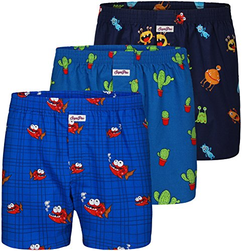 "Sugar Pine 3-Pack Boxershorts Mix 01"" (XXL / 8/56) (2000-SP-3-1701-XXL)"