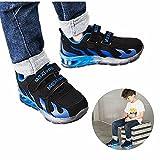 Chaussures Enfant, Chickwin LED Chaussures Lumineuse Bébé Enfant Unisexe Confortable Sneakers Clignotant LED Chaussures (27 / Mesure à l'intérieur (cm) 16, Bleu)