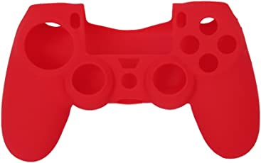 Imported Silicone Protective Skin Case Cover for Sony PlayStation 4 PS4 Controller - Red