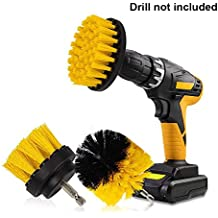 3pcs Drill brush - Spazzola trapano per la pulizia delle setole di media durezza per piastrelle pavimento cucina bagno mattone