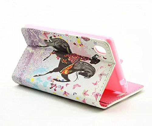 Uming® L Strass spéciales Séries Motif Colorful Imprimer cas PU Holster Case ( Bike - pour IPhone 7 IPhone7 7G ) Artificial-cuir flip avec support Stander titulaire de la carte de crédit fente Wallet  Horse Riding