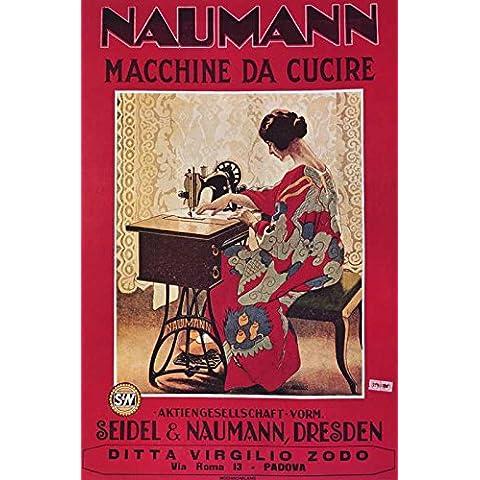 Riproduzione di un poster Presenting–Naumann macchine da cucire