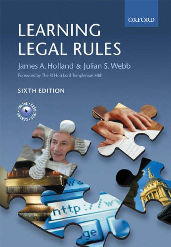 Learning Legal Rules: A Student's Guide to Legal Method and Reasoning (6th Edition)